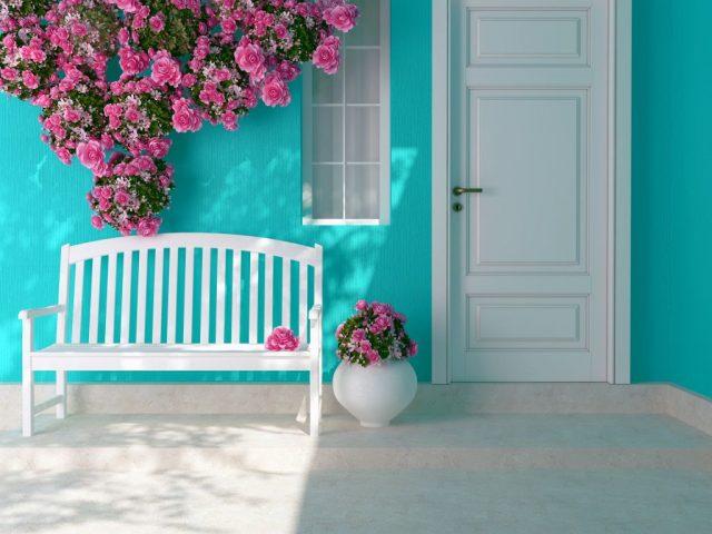 porte d'entrée blanche bois